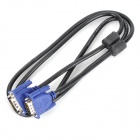 VGA Male to Male Computer Connection Video Cable - Black + Blue