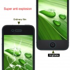 Anti-Shock BUFF Explosion bevis Front + tillbaka Screen Protector Film Guard för IPHONE 4 / 4S