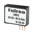 Ful20025 2A 10W DC-DC 12V to 5V Step-down Module - Black + Silver