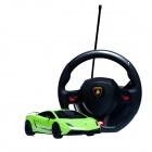 DongXin Lamborghini Charging Speed Drift Car Steering Wheel Remote Control Car 1:18 - Green