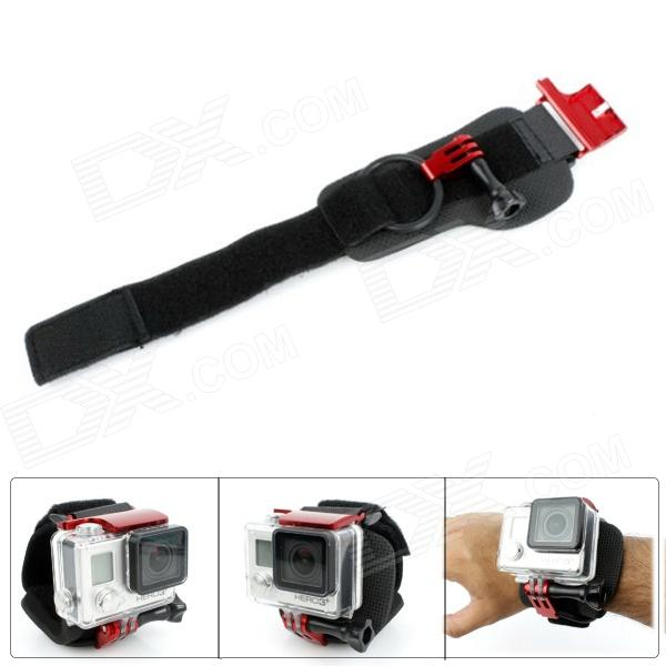 Fat Cat High Comfortable Ergonomic Velcro Wrist Strap Mount w/ Safety Clip Lock for Gopro Hero 4/ 3+ wrist band mount strap for gopro hero3 sj4000 camera