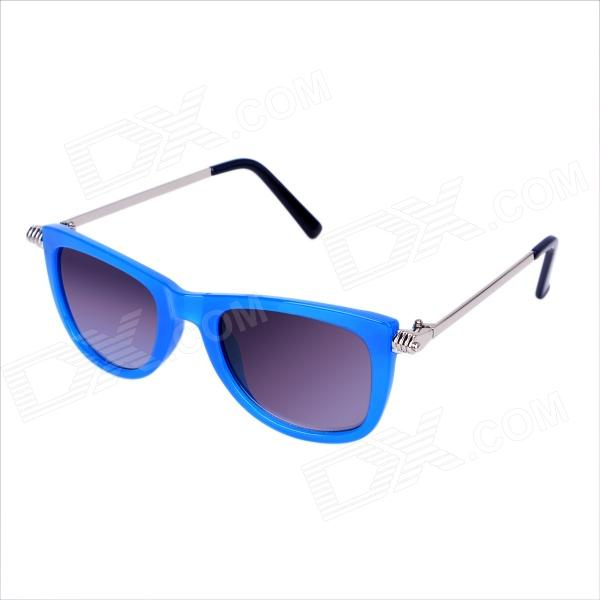 OREKA PC Lens UV400 Protection Sunglasses w/ Metal Legs for Women - Blue + Grey retro women sunglasses polarized driving sun glasses with pc metal hinge shades uv400 protection gafas de sol mujer 4 colors