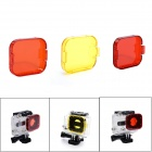JUSTONE Professional Diving Housing Orange / Red / Yellow Filters for GoPro Hero 3
