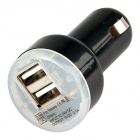 Profesjonell 5V 2.1 / 1A Dual USB bil lader Adapter for IPAD og andre - Black (10 stk)
