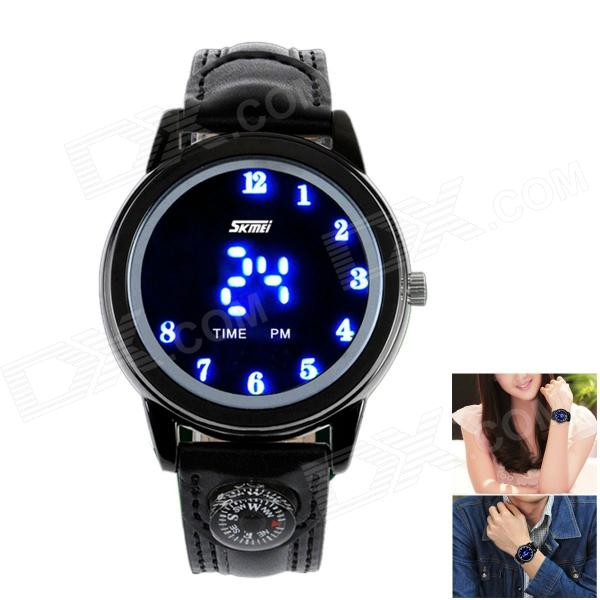 SKMEI Fashionable Waterproof LED Digital Wrist Watch w/ Compass - Black (1 x CR2016) skmei fashionable waterproof led digital wrist watch w compass black 1 x cr2016
