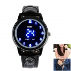 SKMEI Fashionable Waterproof LED Digital Wrist Watch w/ Compass - Black (1 x CR2016)