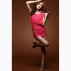 Sleeveless Dress - Red (Free size)