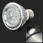 E27 5W 450lm 6500K 5-LED White Light Lamp Bulb - White + Silvery Grey (AC 85~265V)