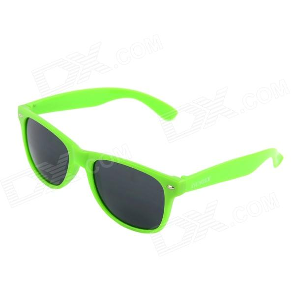 OUMILY Universal PC Lens Sunglasses - Green Frame
