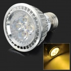 E27 5W 450lm 3500K 5-LED Warm White Light Bulb - White + Silvery Grey (AC 85~265V)