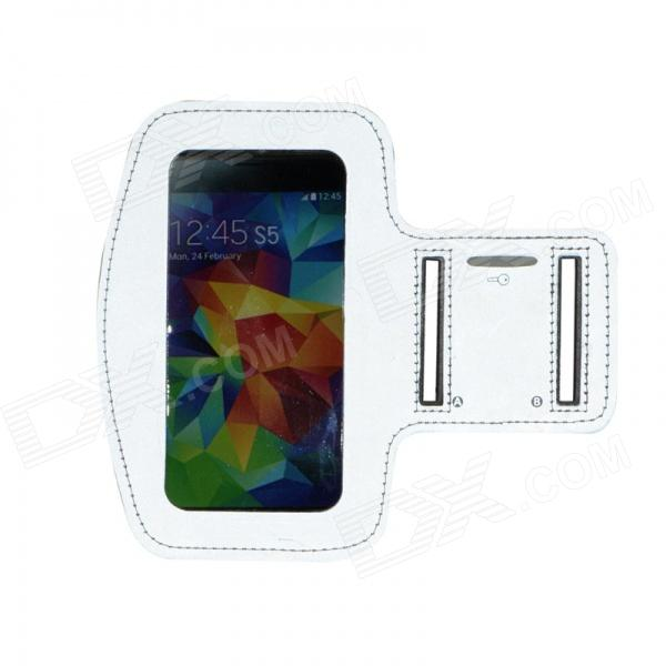 Sports Reflective Armband Case for Samsung Galaxy S5 - Silver
