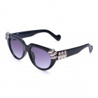 Women's Fashionable PC Frame PC Lens UV400 Protection Sunglasses - Black