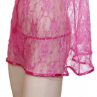 Spandex Soft Lace Perspective Sexy Nighty - Peach (Size XL)