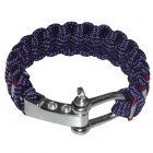 Rannekoru Style Outdoor Survival Emergency Rope - Purple