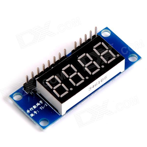 0.36 4-Digit Digital Display Module - Blue + Black + White lson 0 4 8 digit 7 segment digital display module deep blue 5v