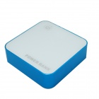 7800mAh Polymer Battery Charger Mobile Power Source Bank for Samsung + More - Blue + White