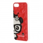 Lovely Panda Pattern Protective Plastic Back Case for IPHONE 5 / 5S - Red + Black + White