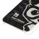 Lovely Panda Pattern Skyddande Plast Back Case för IPHONE 5 / 5S - Svart + Vit
