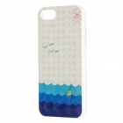 Sea Pattern Protective Plastic Back Case for IPHONE 5 / 5S - Blue + White