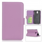 Protective PU Leather Case w/ Card Slot for Samsung Galaxy Note 3 / N9006 / N9000 / N9002 - Purple