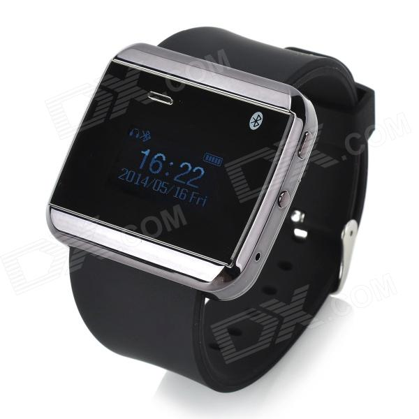 CHR U Watch2S Water Resistant 1.0 Screen Bluetooth Smart Wrist Watch - Black