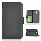 SUNSHINE Slip-open PU Case w/ Stylus + Card Slot + Holder for Samsung Galaxy S5 - Black