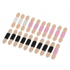 Fashion-End Doppel Sponge Eyeshadow Sticks - Schwarz + Weiß + Rosa (20 PCS)