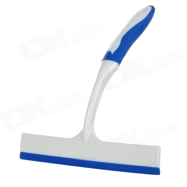 T-shaped Plastic + Rubber Car Glass Cleaning Scraper - White + Blue