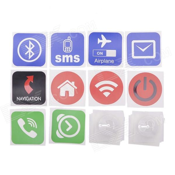 NXP NTAG203 Smart NFC Tags w/ Stickers for Sony / HTC / Samsung / LG / Nokia / Acer + More smartrac nfc ntag 203 circus 23mm stickers set windows android htc samsung nokia