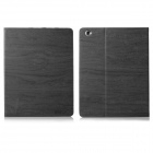 ENKAY Bark Grain Pattern PU Leather Case Cover Stand w/ Auto Sleep for IPAD 2 / 3 / 4 - Grey