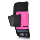 SUNSHINE Sports Velcro Protective Arm Bag for Samsung Galaxy S5 - Deep Pink