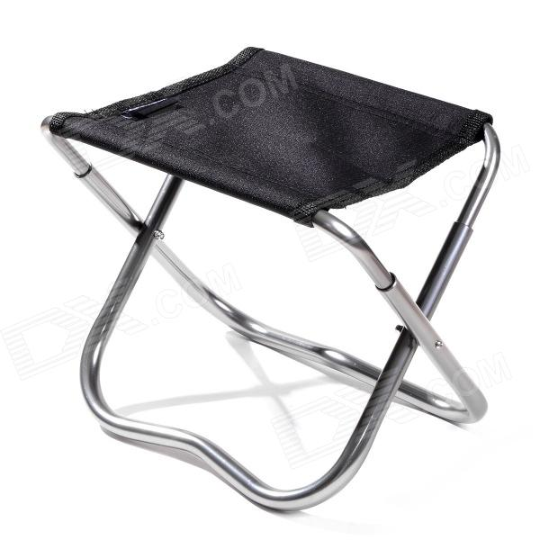 Naturehike Portable Folding Fishing Stool - Black + Silver 80 5 x 40 x 40cm home foldable multifunctional storage stool folding stool holder organizer storage stool box black 22