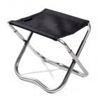 Naturehike Portable Folding Fishing Stool - Black + Silver