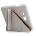 ENKAY Multi-folding Protective PU Leather Case with Stand for Samsung Galaxy Tab 3 Lite T110 - Golde
