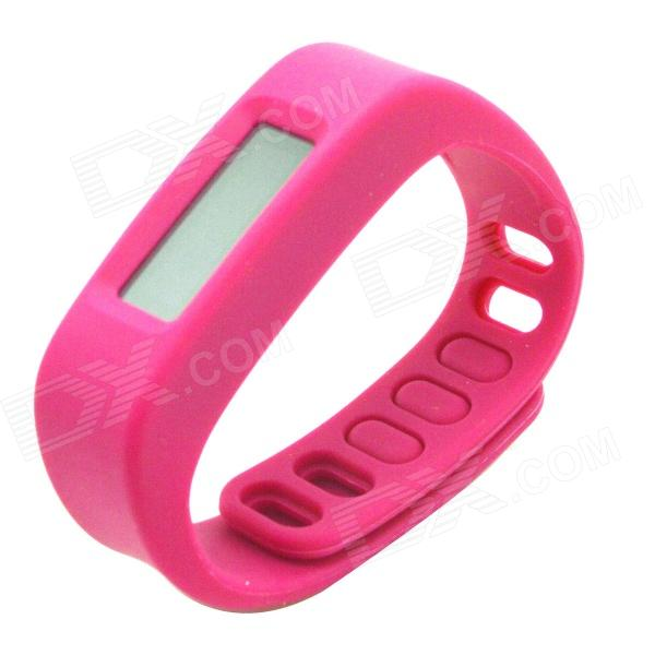 "1.7"" LCD Bluetooth V2.1 Intelligent Health Bracelet Motion Record / Sleep Monitor / Stopwatch - Pink"