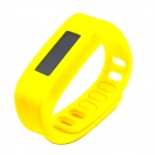 "1.7"" LCD Bluetooth V2.1 Intelligent Health Bracelet Motion Record / Sleep Monitor / Stopwatch-Yellow"