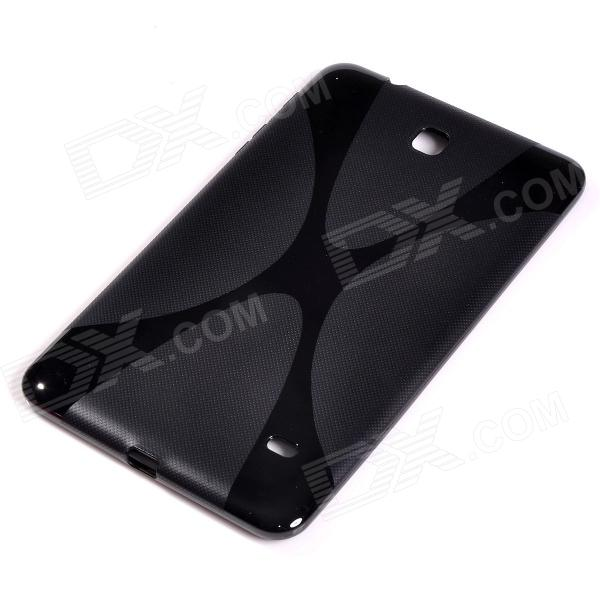 """X"" Style Protective TPU Back Case for Samsung Galaxy Tab 4 8.0 / T330 - Black"