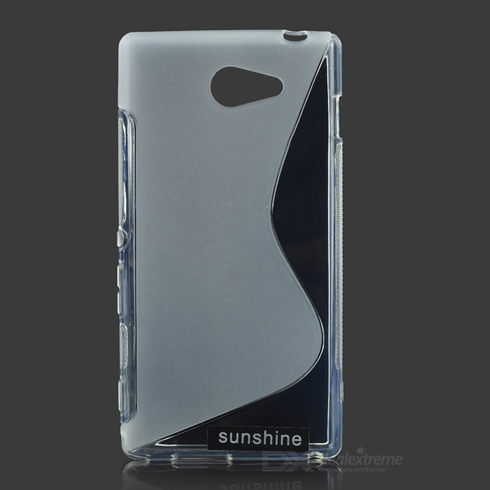 Sunshine  S  Pattern High-quality TPU Protective Back Case for Sony Xperia M2 - Translucent White protective silicone case for nds lite translucent white