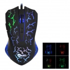 Jeway JM-1305 USB 2.0 Wired 6D optinen LED Gaming Mouse-Musta