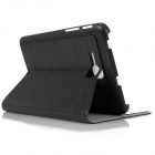 ENKAY Simple Protective PU Leather Case Cover Stand for Samsung Galaxy Tab 3 Lite T110 - Black
