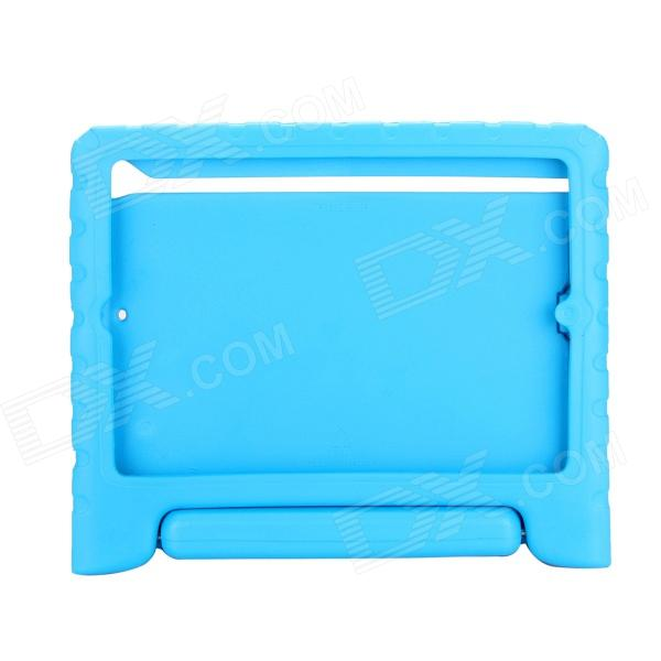 EPGATE Handheld Portable Shatter-resistant Stand Rubber Case for IPAD Air - Blue hand held rubber floaty grip