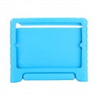 EPGATE Handheld Portable Shatter-resistant Stand Rubber Case for IPAD Air - Blue