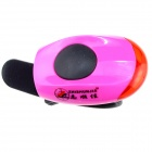 ZHISHUNJIA Waterproof 30lm 1-LED Red Light 2-Mode Warning Bike Light - Black + Pink (2 x CR1220)