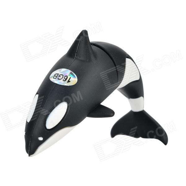 Orca Style USB 2.0 Flash Drive Disk - Black + White (16GB) ice cream style usb 2 0 flash drive disk brown dark grey 4gb