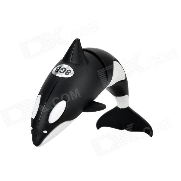 Orca Style USB 2.0 Flash Drive Disk - Black + White (8GB) ice cream style usb 2 0 flash drive disk brown dark grey 4gb