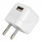 Mini EU-Plug Power Adapter + Charging / Data Cable for Samsung / HTC / LG - White + Black (110~240V)
