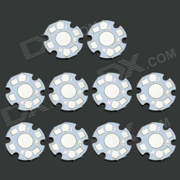 MaiTech Universal LED Beads On Star Aluminum Plate - White (10 PCS)