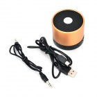 EWA A102 5W Bluetooth V2.1 Speaker w/ 3.5mm Jack / SD / TF - Copper