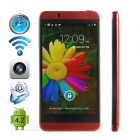 "CUBOT ONE-S MTK6582 Quad-core Android 4.2.2 WCDMA Bar Phone w/ 4.7"" IPS QHD, Wi-Fi and GPS - Red"