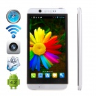 "CUBOT ONE-S MTK6582 Quad-core Android 4.2.2 WCDMA Bar Phone w/ 4.7"" IPS QHD, Wi-Fi and GPS - Silver"